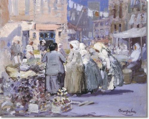 C.1905 Hester Street Great American Art George Benjamin Luks