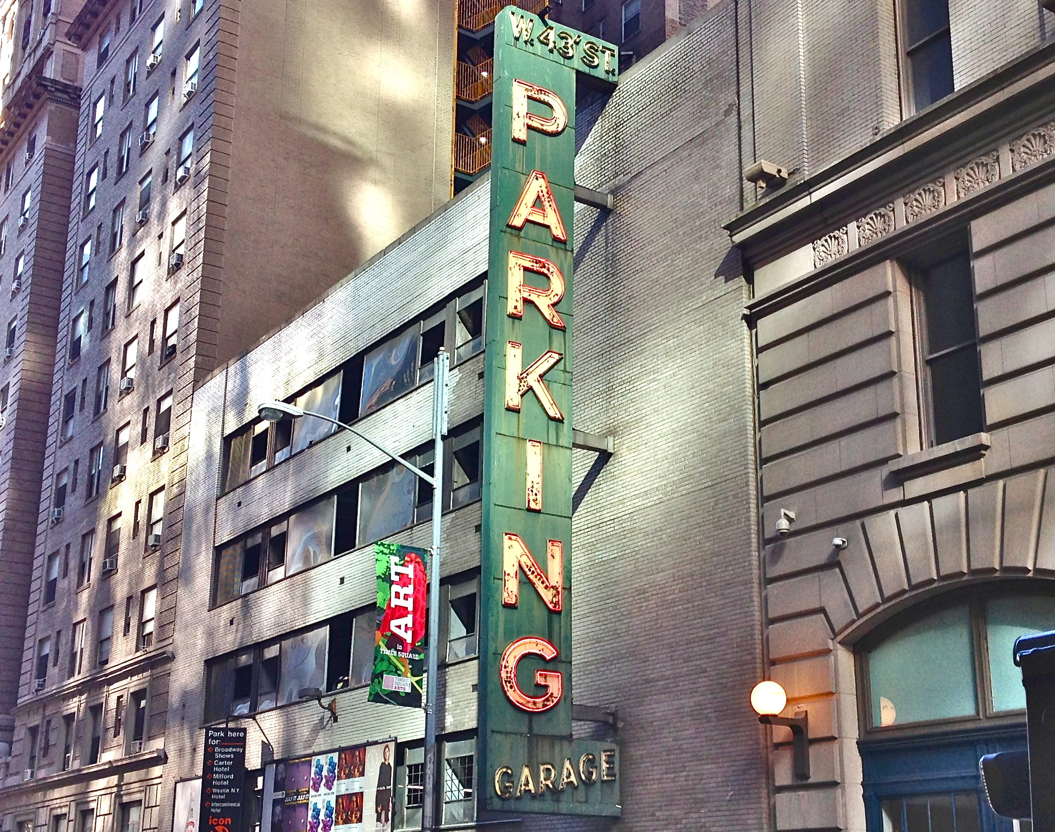 Parkinggaragesign for New york city parking garage