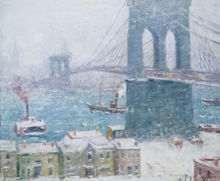"Wiggins452 Wiggins' ""Brooklyn Bridge in Winter"""