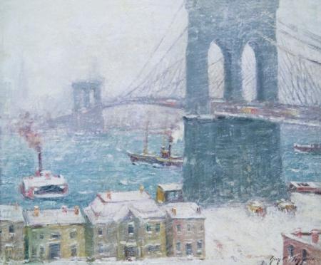 "Wiggins452 Wiggins' ""Brooklyn Bridge in Winter"""