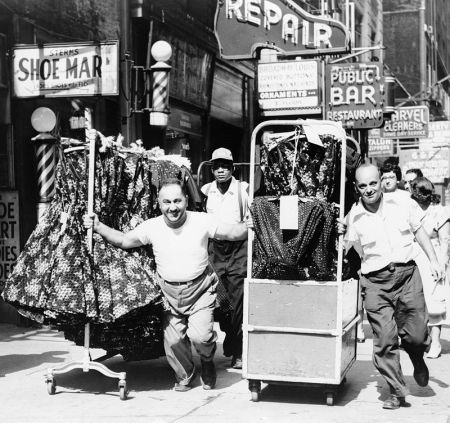 Hauling Clothes In The Garment District In 1955