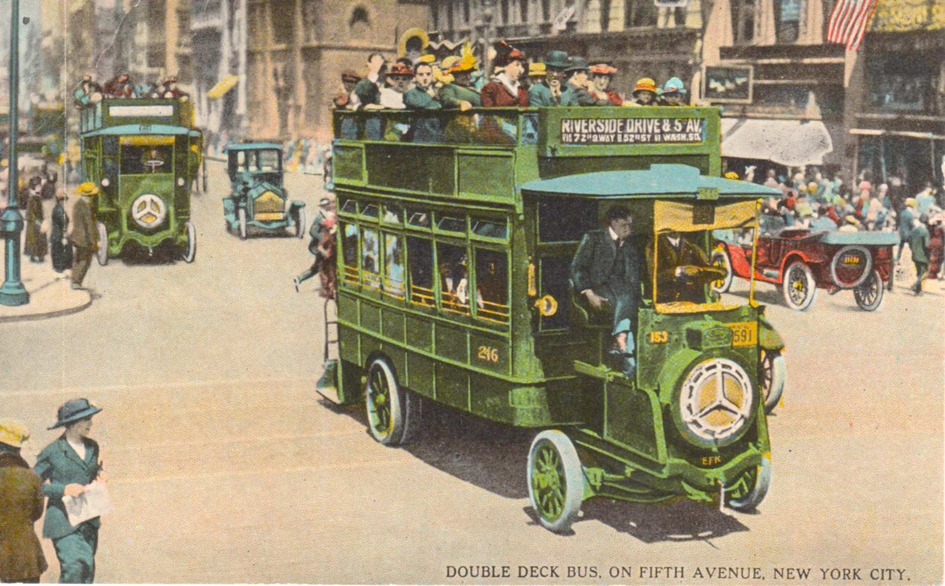 New York Was The First City To Use Motor Omnibuses For Public Transit And The Earliest Fleet Hit The Streets In 1902 According To The Wheels That Drove