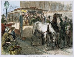 Horsefluhorsespullingstreetcar