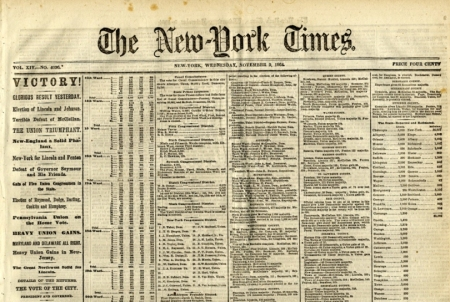 lincolnelection1864nyt
