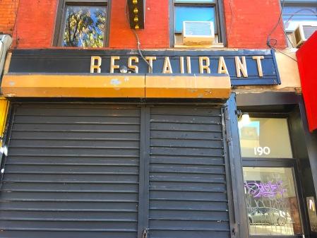 signsrestaurantfirstave
