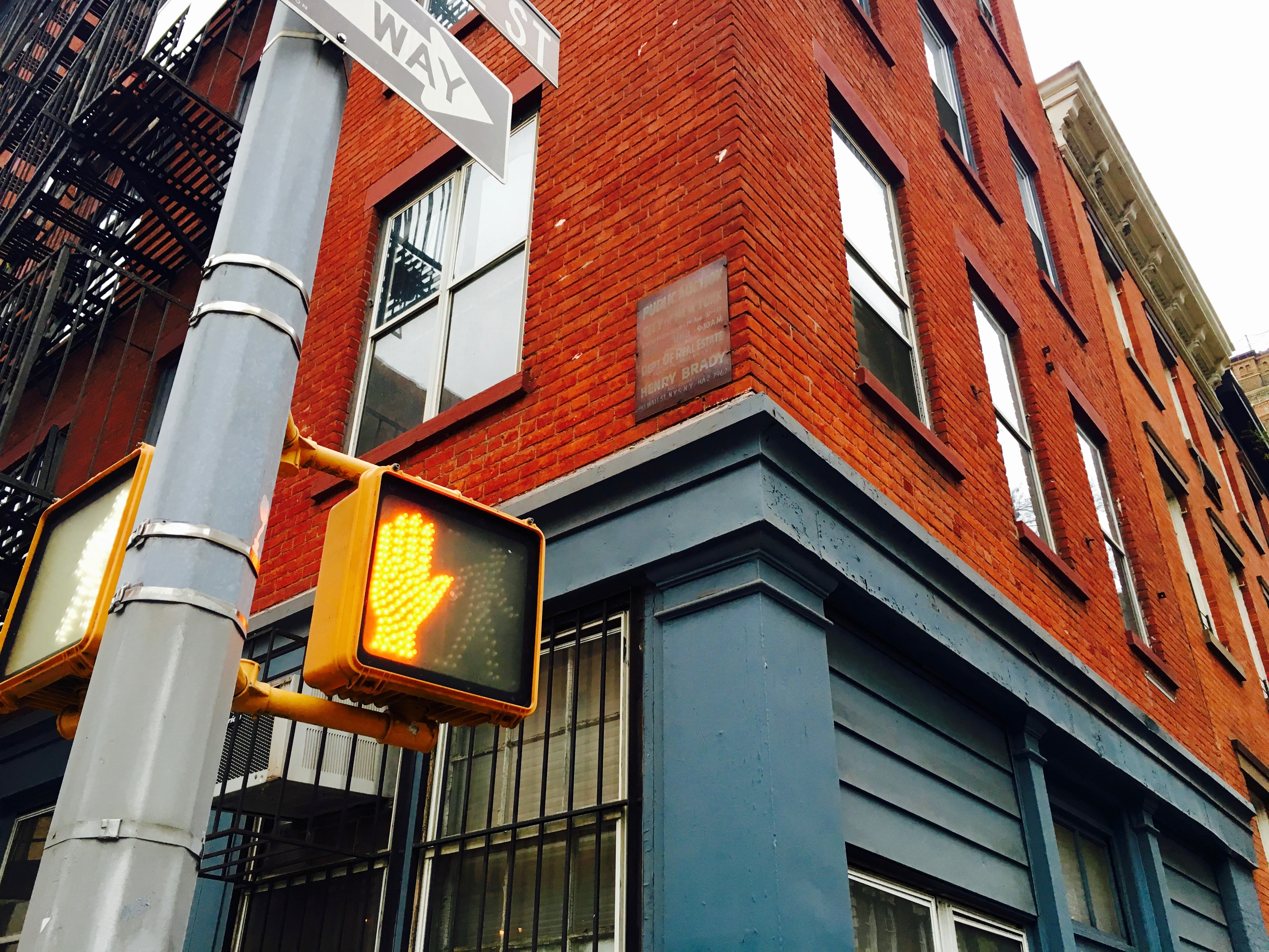 Uncategorized hilton fashion district review - Has This Metal Sign Advertising A Land Auction Really Been Posted On A Building At Greenwich Street And West 12th Street Since 1963