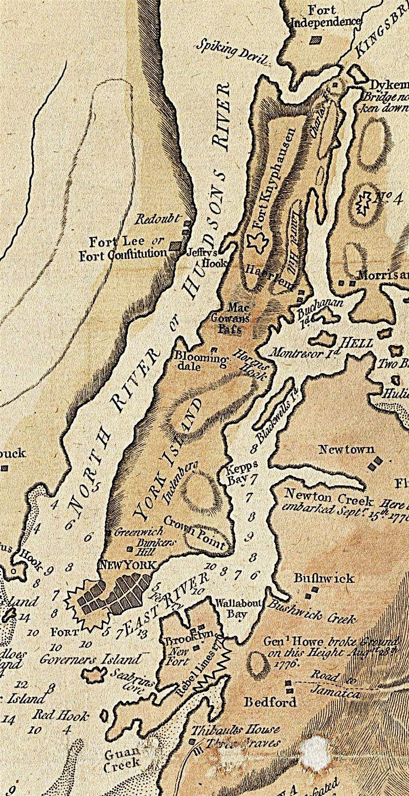 North River Map Manhattan | Ephemeral New York