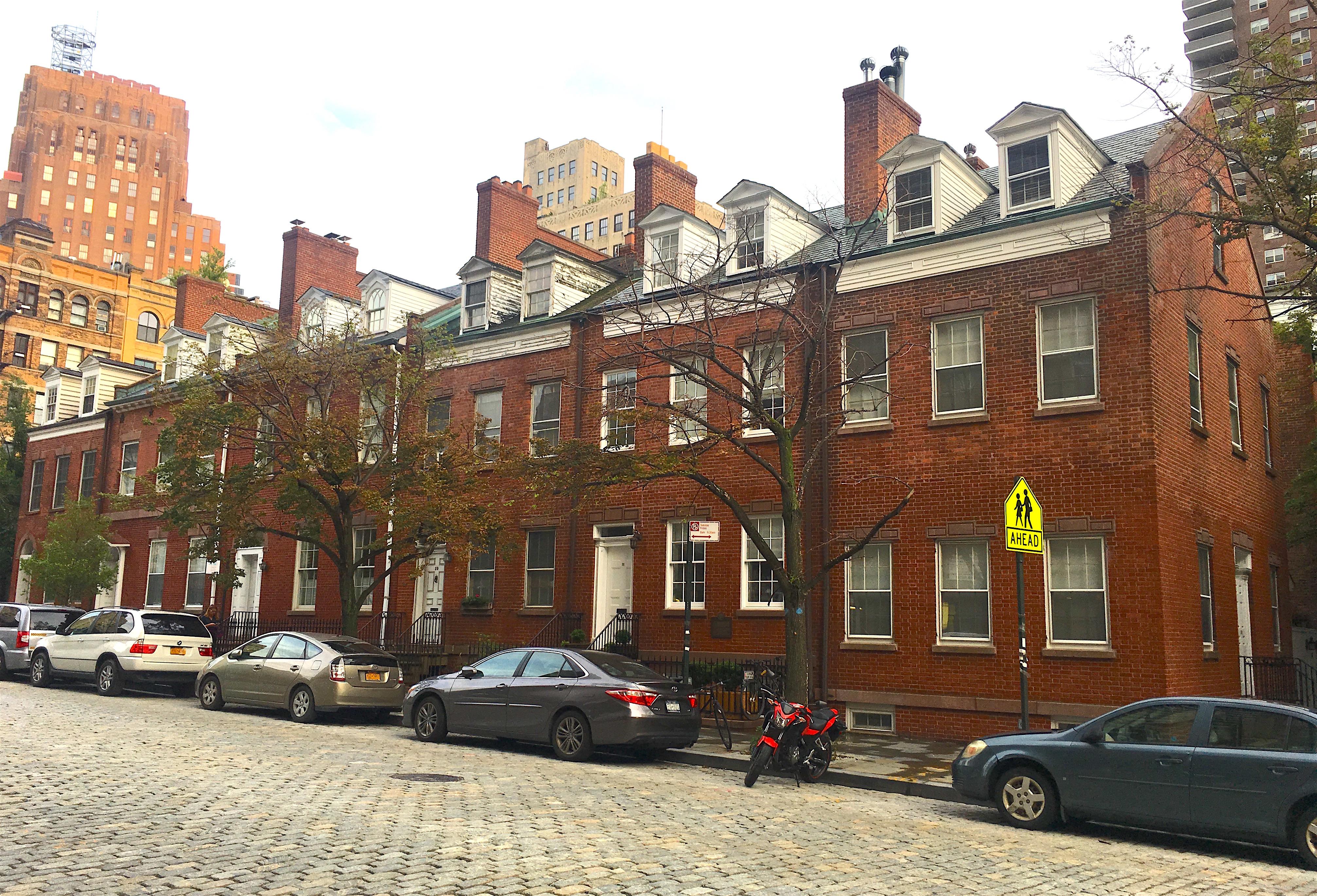New York Row Houses : Federal style houses new york city ephemeral