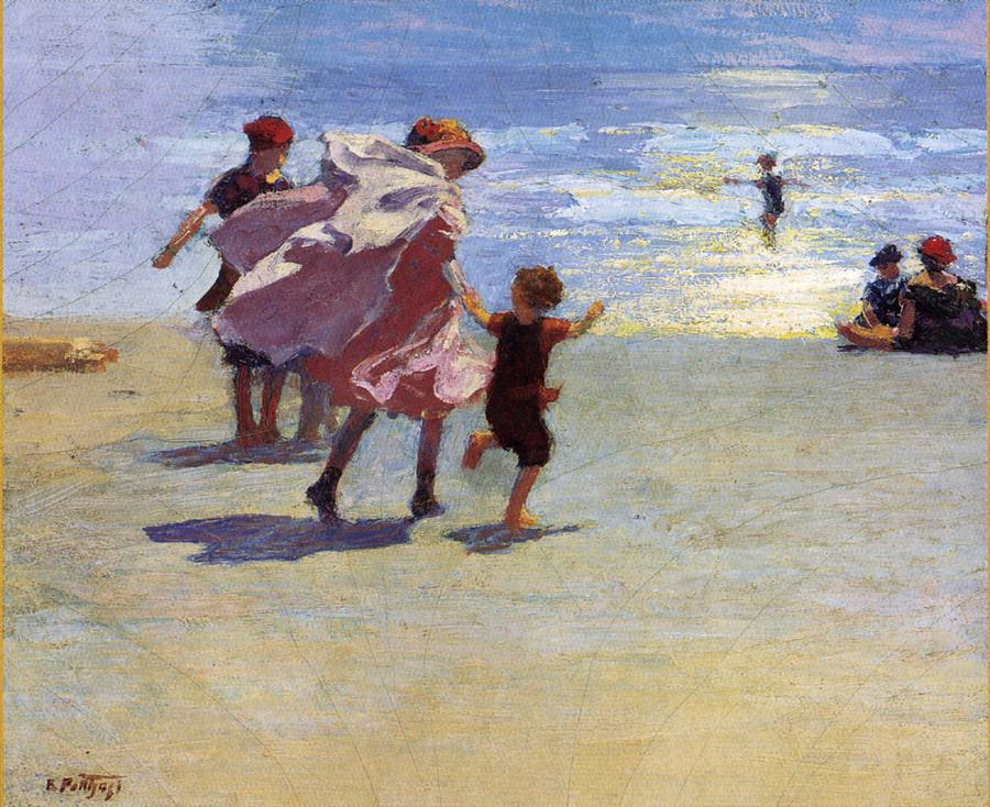 An Impressionist paints New York's sand and surf