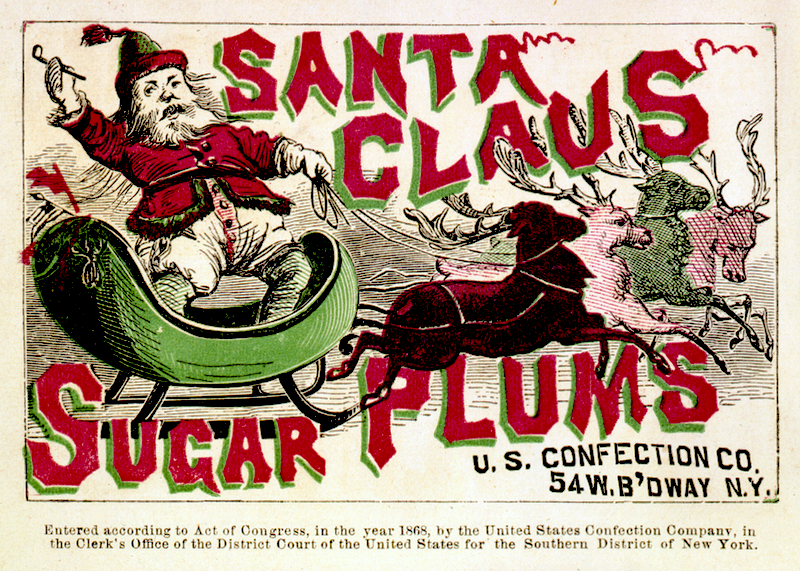 this 1868 sugar plum advertisement featuring santa appeared five years after harpers illustrator thomas nast famously reinvented the image of st nicholas - Day After Christmas Ads