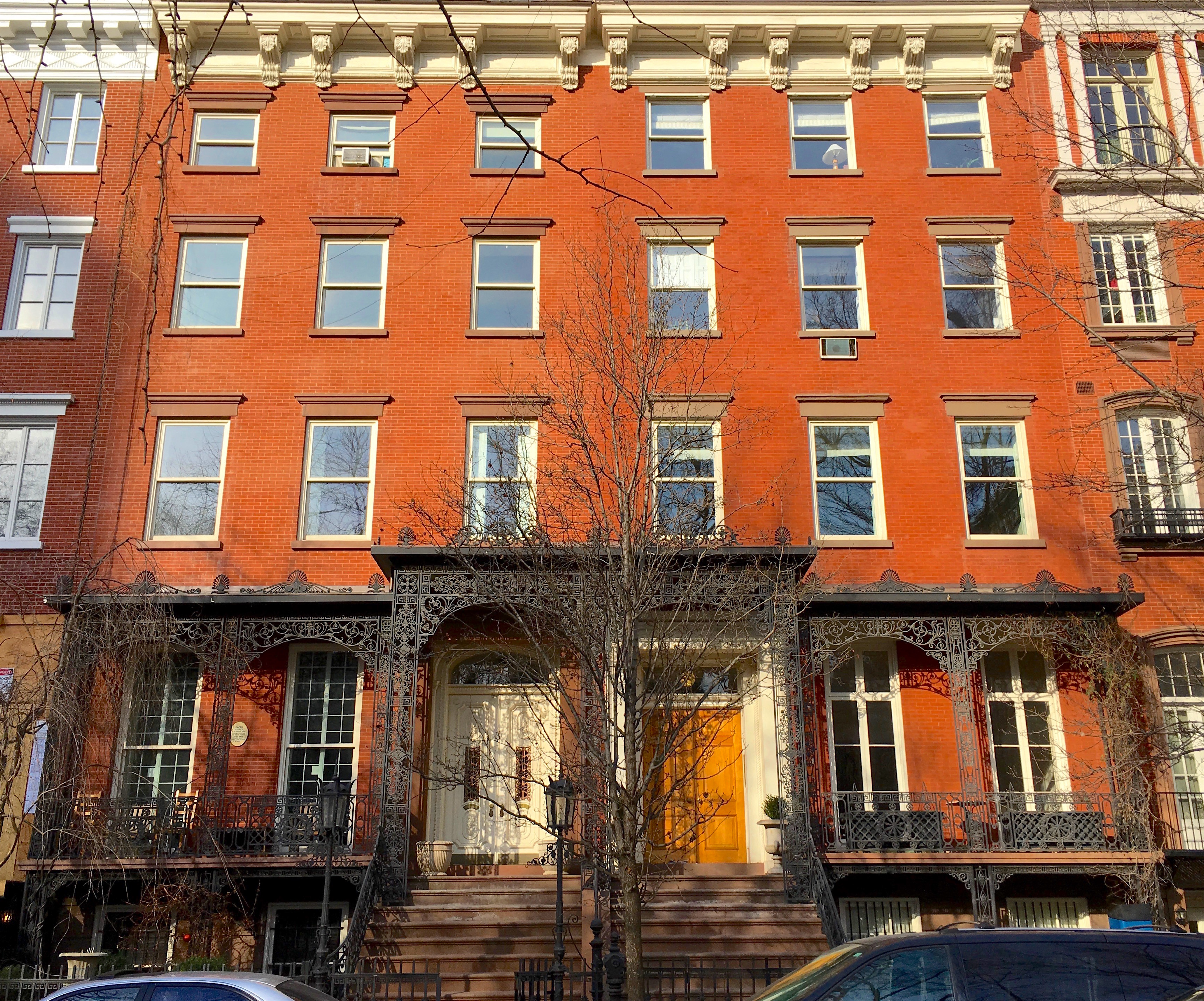 Built in 1846 soon after Gramercy Park was transformed from a sw& to an elite neighborhood the Greek Revival home \u201cfeatures sun-filled rooms ... & New York in the 1840s | Ephemeral New York