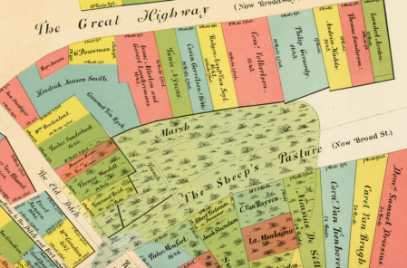 New Amsterdam Old Map Ephemeral New York - Amsterdam old map