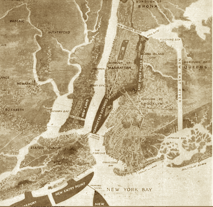 The Bizarre 1916 Plan To Fill In The East River Ephemeral New York