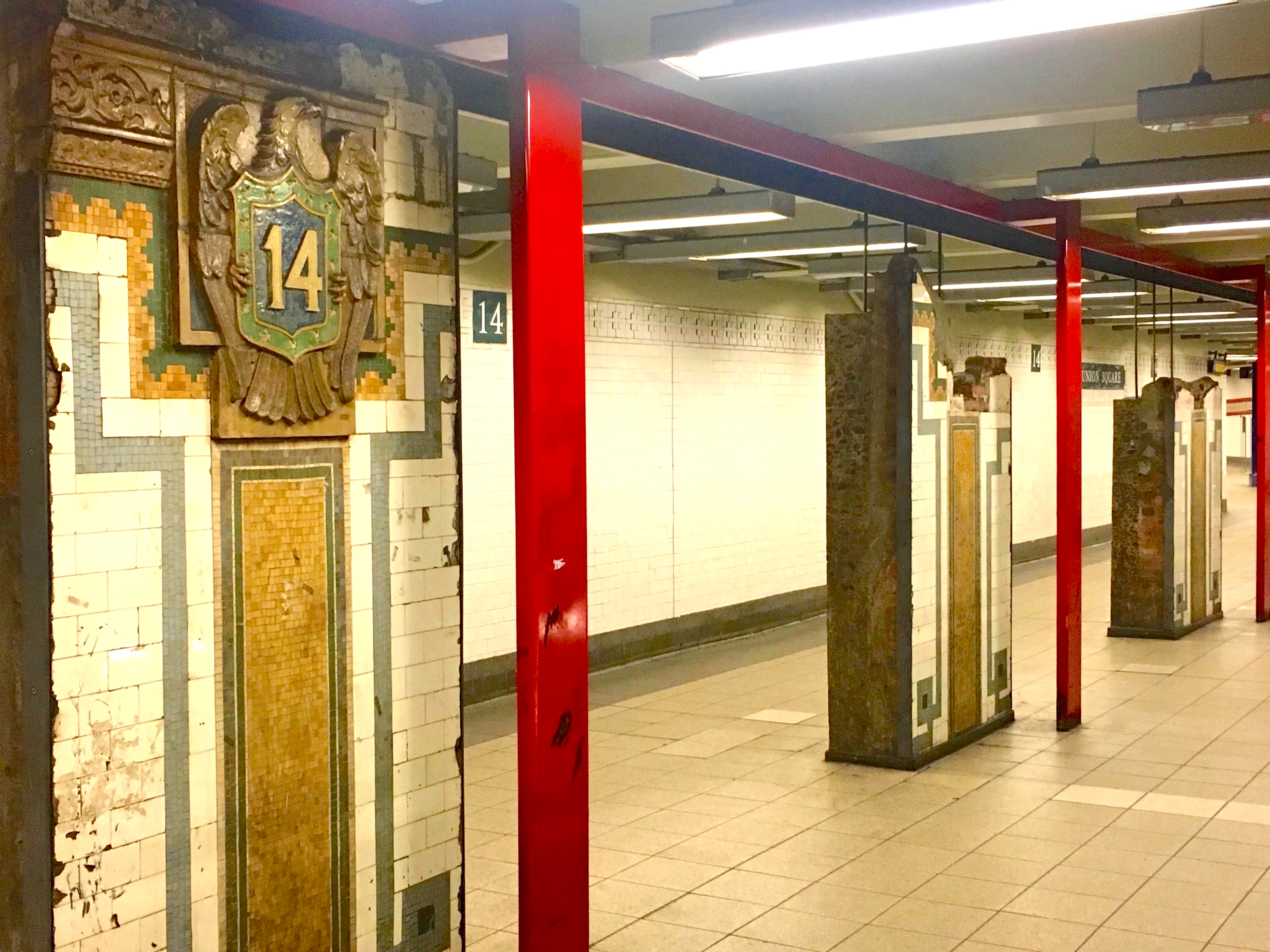 Rushing by the relics of the Union Square subway | Ephemeral New York