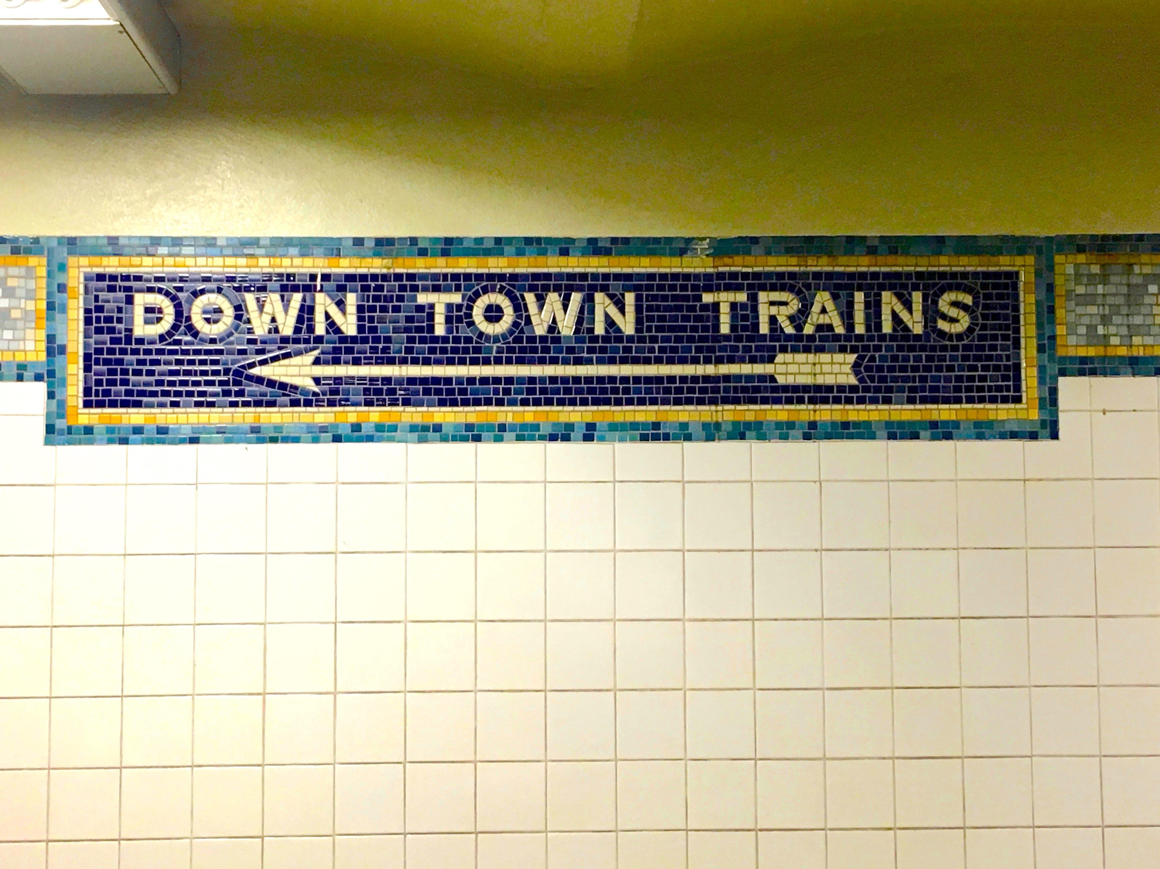 Subway Signs Ephemeral New York